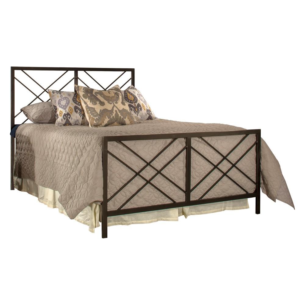 Westlake Metal Bed Set King Magnesium Pewter - Hillsdale Furniture, Silver