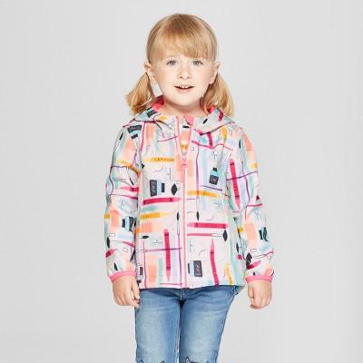 Toddler Girls' School Supplies Softshell Jacket - Cat & Jack™ Aqua 12M