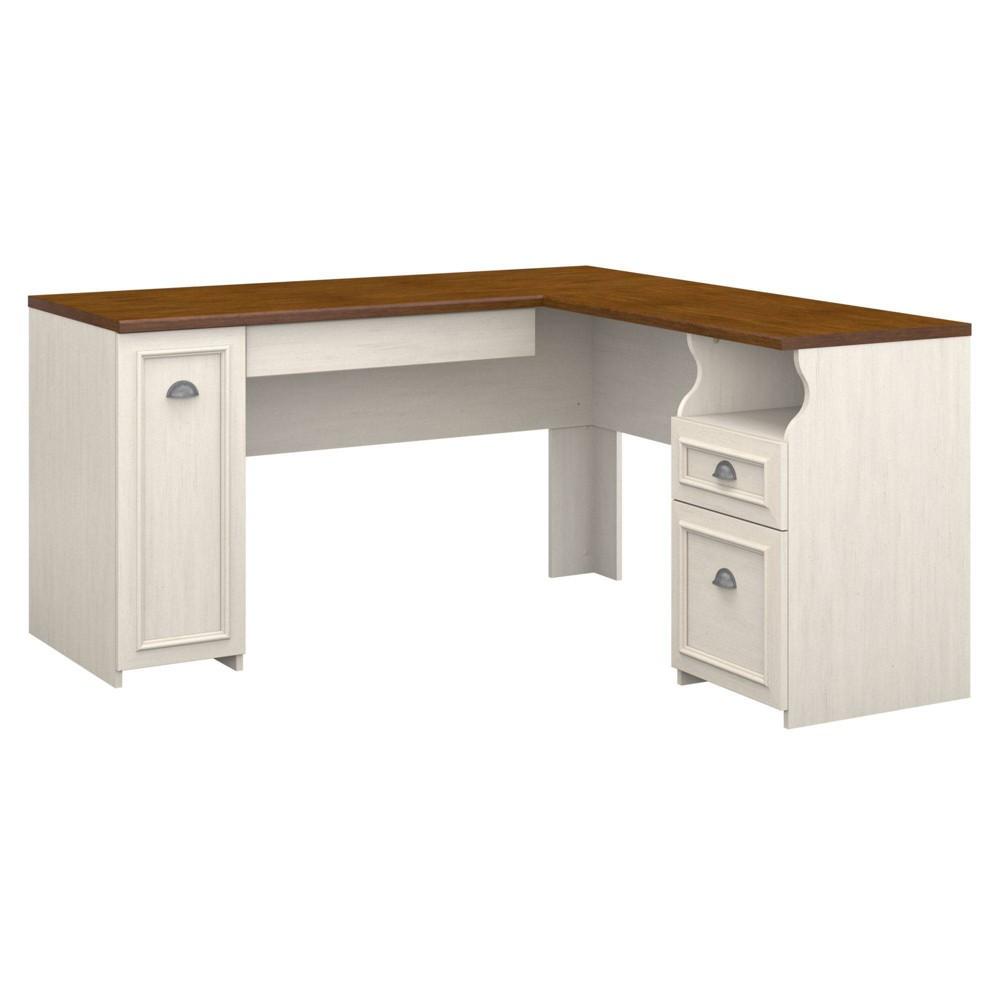 Fairview L-Desk White - Bush Industries