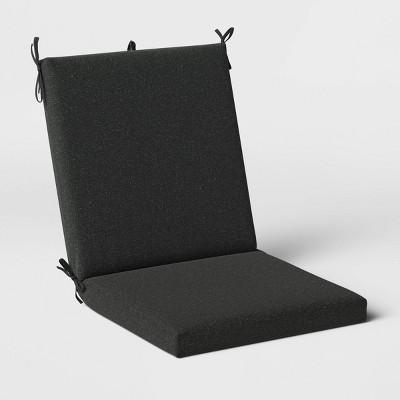 Woven Outdoor Chair Cushion DuraSeason Fabric™ Black - Threshold™