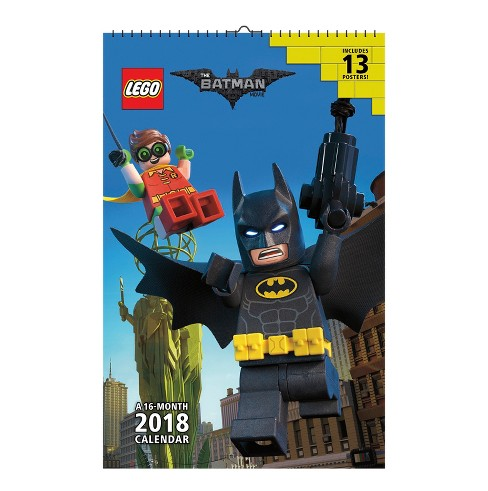 2018 The Lego Batman Movie Oversized Wall Calendar - Trends International - image 1 of 4