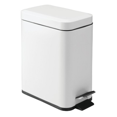 InterDesign Rectangle Step Can 5L White
