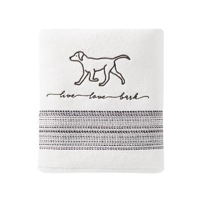 Furever Friends Bath Towel White - SKL Home