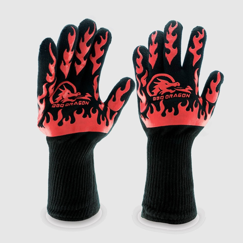 Image of BBQ Extreme Heat Resistant Grill Gloves Black - BBQ Dragon