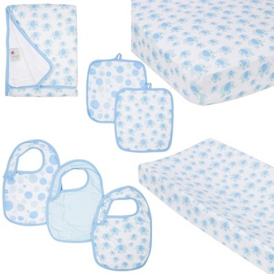 MiracleWare Fitted Sheets Nursery Set - Blue Elephants 5pc