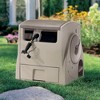 """Suncast CPLPW100 Powerwind 100' Automatic Garden Reel for 5/8"""" Hose, Taupe - image 2 of 4"""