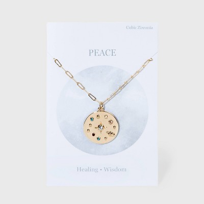 Star Map Pendant Chain Necklace - Gold