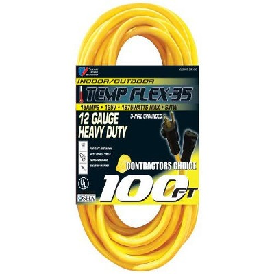 USW 12/3 Yellow Heavy Duty Extension Cords