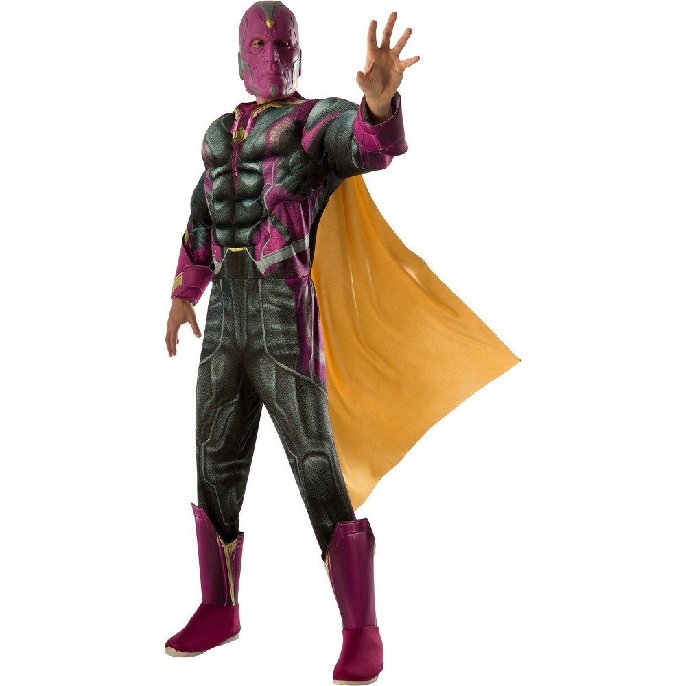 Marvel Men's Vision Muscle Chest Deluxe Halloween Costume XL - Rubie's, Multi-Colored