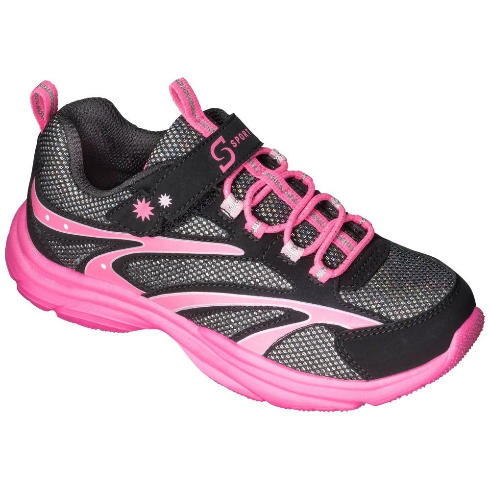 Girls S Sport Designed By Skechers 8482 One Strap Sneakers Black 4