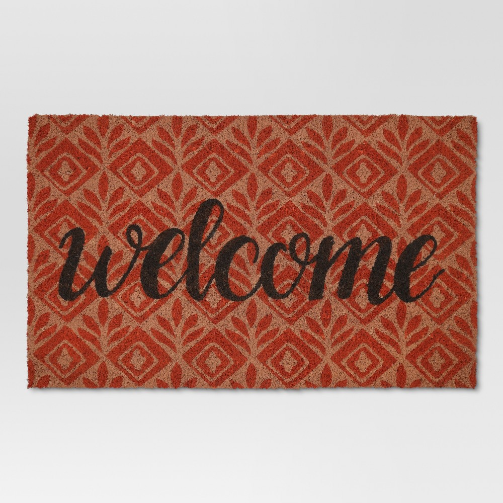 1'6X2'8 Doormat Coral Typography - Threshold was $12.99 now $10.39 (20.0% off)