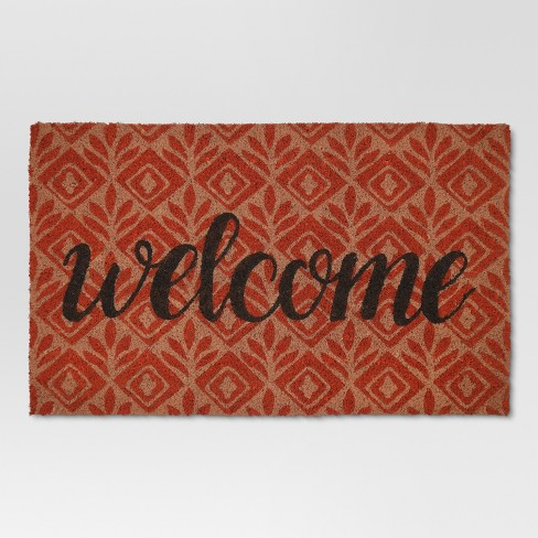 "1'6""X2'8"" Doormat Coral Typography - Threshold™ - image 1 of 4"