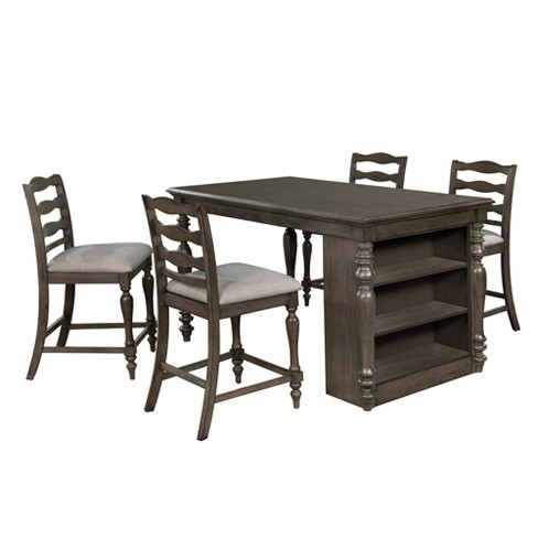 Graves Rectangular Wood Counter Height Dining Table Gray - Homes: Inside + Out - image 1 of 3