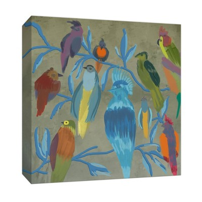 Colorful Flock Gallery Wrapped Canvas - PTM Images