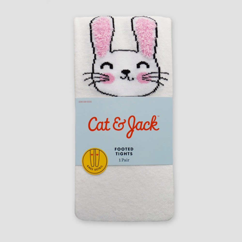 Girls' Bunny Tights - Cat & Jack White 4-6X