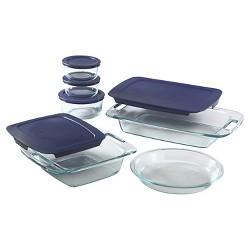 Pyrex 11pc Glass Easy Grab Bake N Store Set
