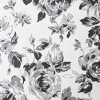 Hannah Floral Printed Shower Curtain Black/White - image 4 of 4