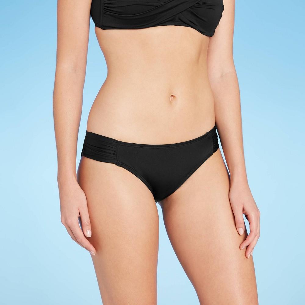 Women S Medium Coverage Tab Side Hipster Bikini Bottom Kona Sol 8482 Black M