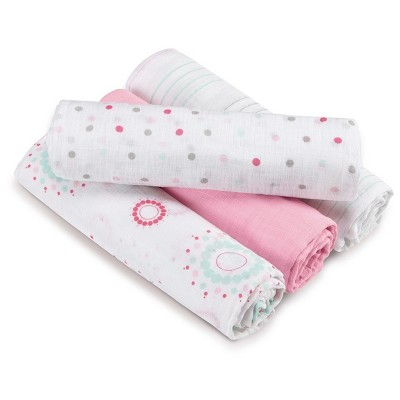 Aden by Aden + Anais Swaddle - Sweet in Pink - 4pk
