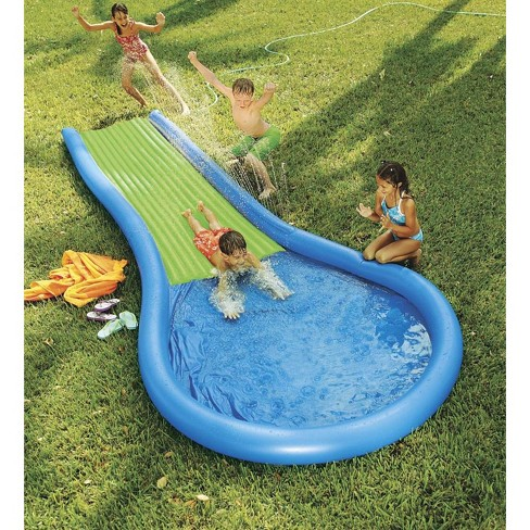7ada946d235025 Inflatable Water Slide For Kids With 12  Misted Pathway And Pool -  Hearthsong   Target