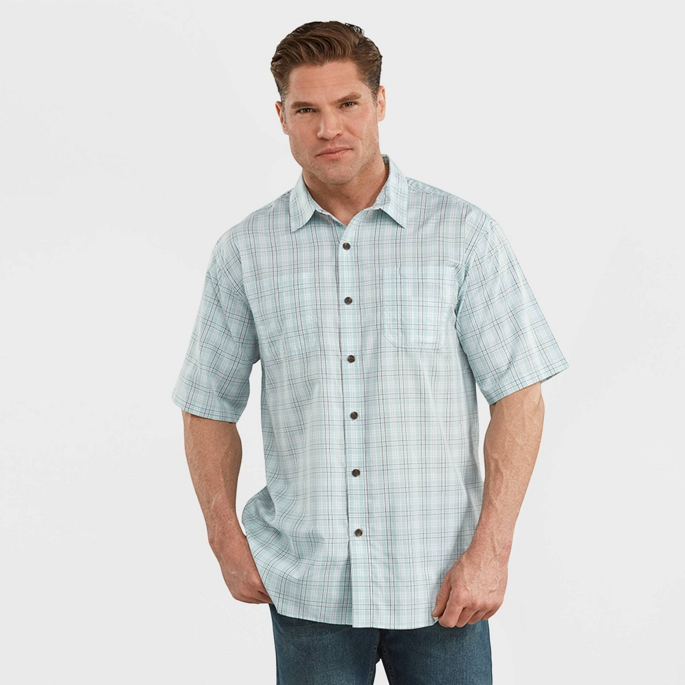 Dickies Men's Relaxed Fit Short Sleeve Plaid Button-Down Shirt - Gray M