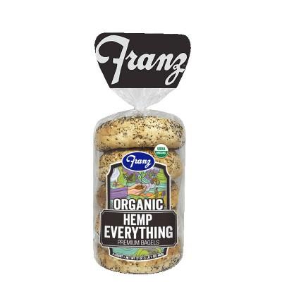 Franz Organic Hemp Everything Bagels - 17oz/5ct