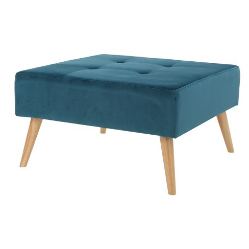 Swell Omry New Velvet Ottoman Dark Teal Christopher Knight Home Uwap Interior Chair Design Uwaporg
