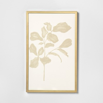 Botanical Wall Art with Brass Frame - Hearth & Hand™ with Magnolia