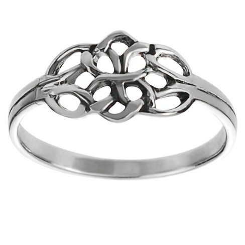 Women s Tressa Collection Sterling Silver Celtic Double Knot Ring ... 3676a01a6