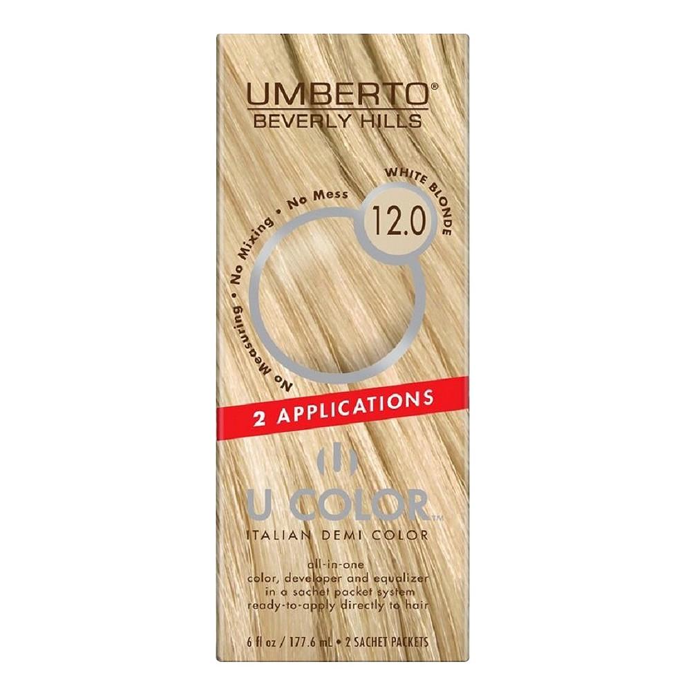 Umberto Beverly Hills U Color Italian Demi Hair Color - 12.0 White Blonde