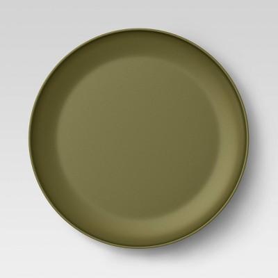 "10.5"" Plastic Dinner Plate Dark Green - Room Essentials™"