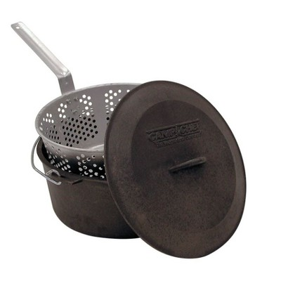 Camp Chef Cast Iron Fry Pot Set - Black