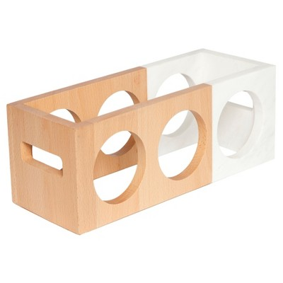 Rectangle Wine Rack Marble/Wood - Threshold™
