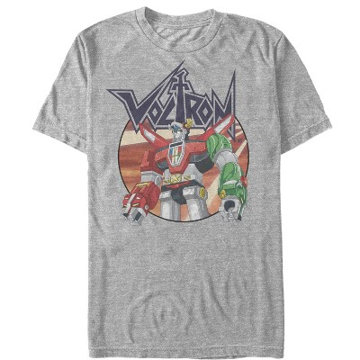Men's Voltron: Defender of the Universe Robot Circle T-Shirt