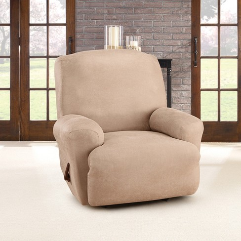Ultimate Stretch Leather Recliner Slipcover Rustic Brown Sure Fit Target