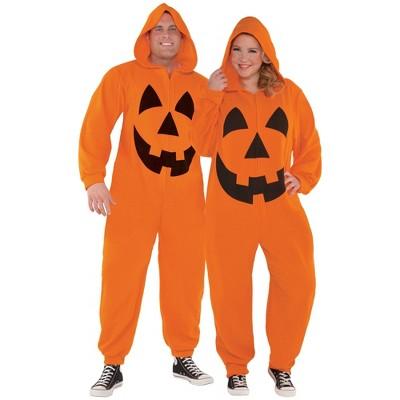 Adult Pumpkin Zipster Halloween Costume XXL