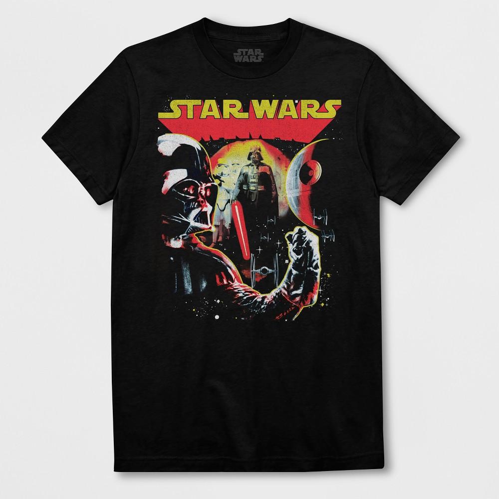 Men's Short Sleeve Star Wars Darth Vader Crew T-Shirt - Black 2XL