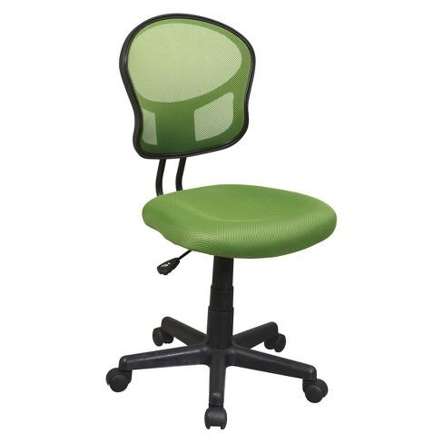 Mesh Task Chair Green - OSP Home Furnishings - image 1 of 4