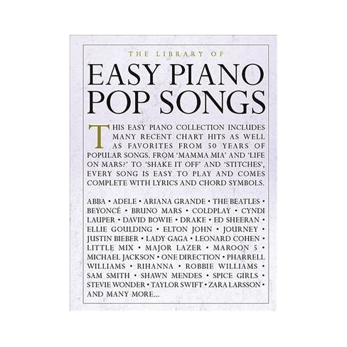 Library Of Easy Piano Pop Songs Paperback Target