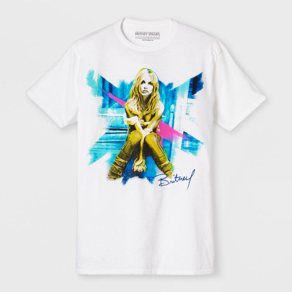 Men's Short Sleeve Britney Spears Crew T-Shirt - White 2XL