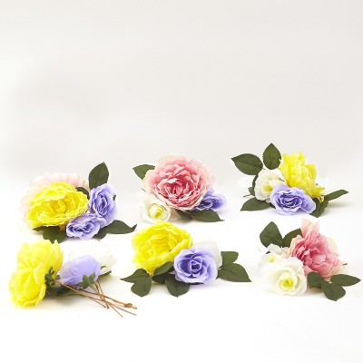 Lakeside Decorative Spring Faux Flowers Fill Set - Seasonal Floral Tabletop Accent