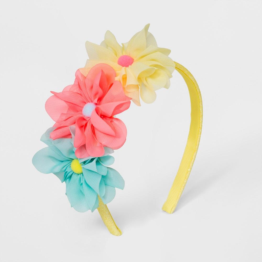 Girls' Triple Flower Headband - Cat & Jack, Multi-Colored
