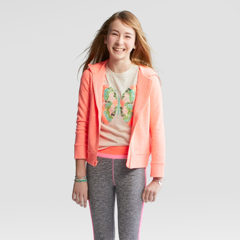 Girls' Sweatshirt - Cat & Jack Coral L, Pink