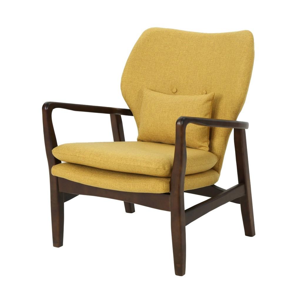 Haddie Mid Century Modern Club Chair Mustard (Yellow) - Christopher Knight Home