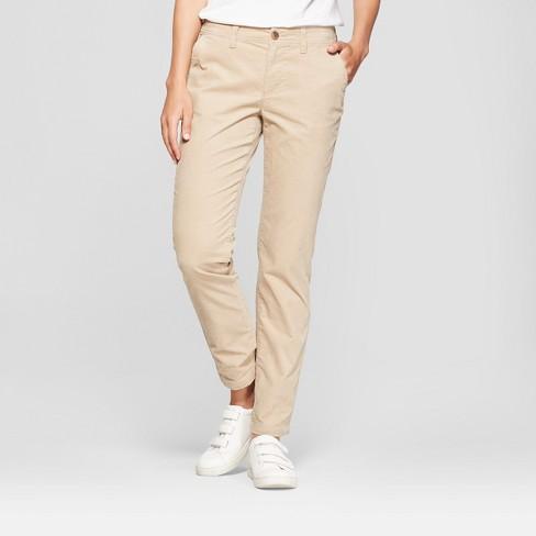 Women s Slim Corduroy Pants - A New Day™ Tan 18   Target ba906740fa