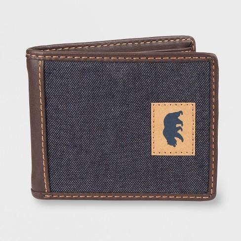 Levi's Men's Leather Slimfold Traveler Wallet Dark Brown