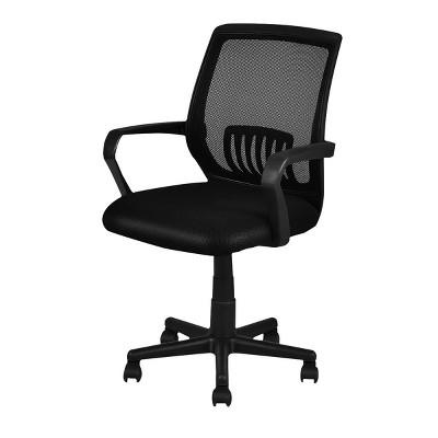 Costway Modern Ergonomic Mid-back Mesh Computer Office Chair Desk Task Task Swivel Black