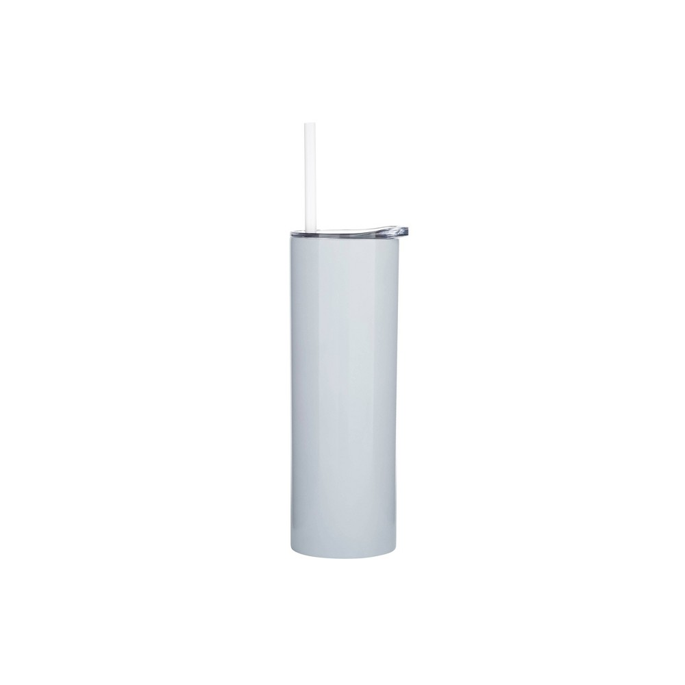 Image of Parker Lane 16oz Double Wall Stainless Bottle, Lid & Straw White Pearlized
