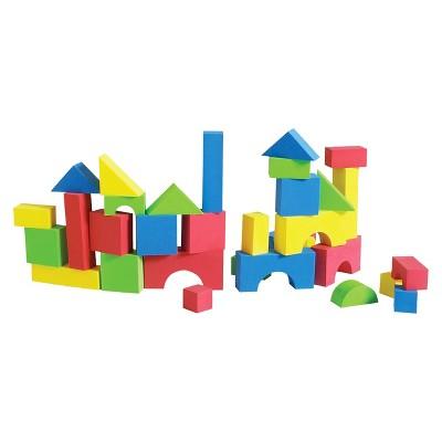 Edushape Edu-Color - 80 pc Firm Foam Blocks