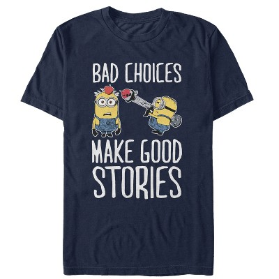 Men's Despicable Me Minion Bad Choices T-Shirt